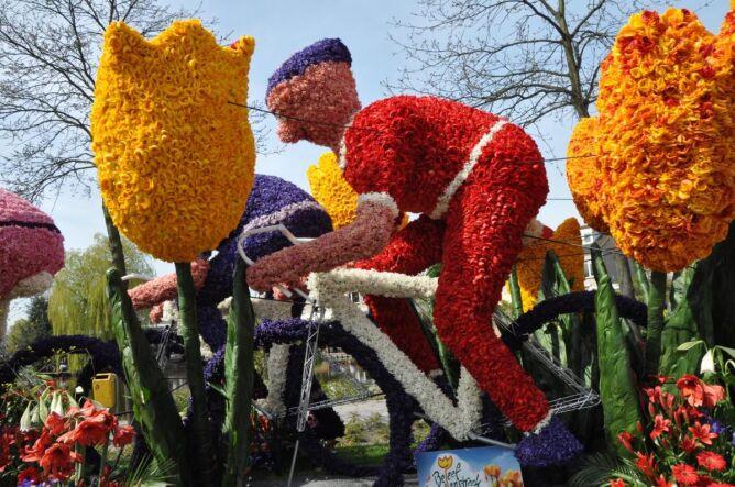 Kwiatowa parada w Holandii
