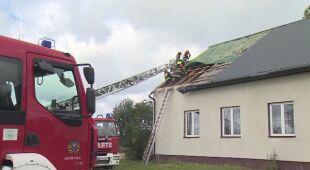 Zerwany dach remizy w gminie Koniecpolski